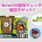 Marmotの保冷リュックを雑誌でゲット!送料無料で定期購読がお勧め
